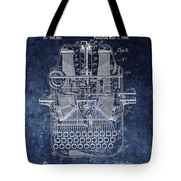 Vintage Typewriter Patent Tote Bag
