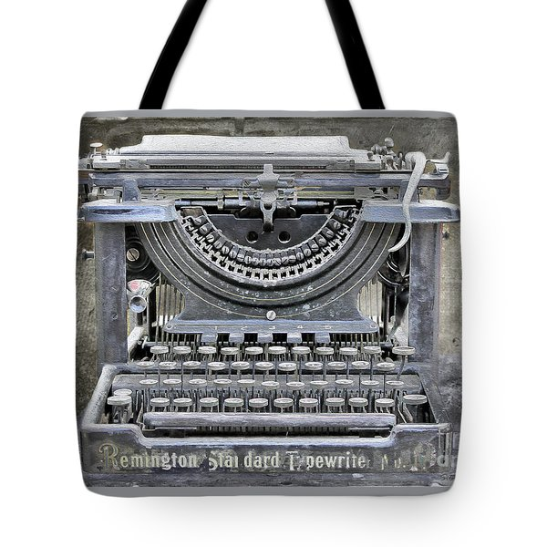 Vintage Typewriter Photo Paint Tote Bag