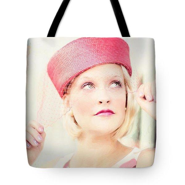 Vintage Val The Coral Hat Tote Bag