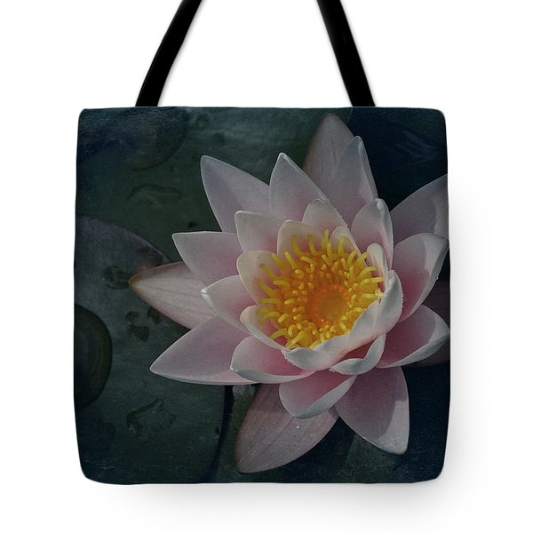 Vintage Water Lily Tote Bag