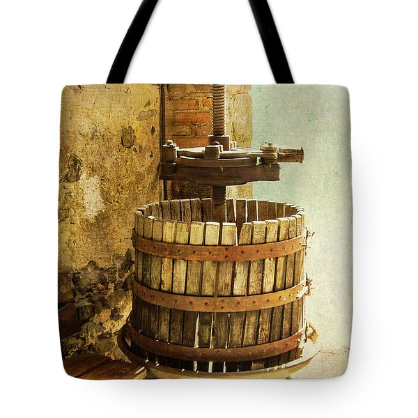 Vintage Wine Press Tote Bag