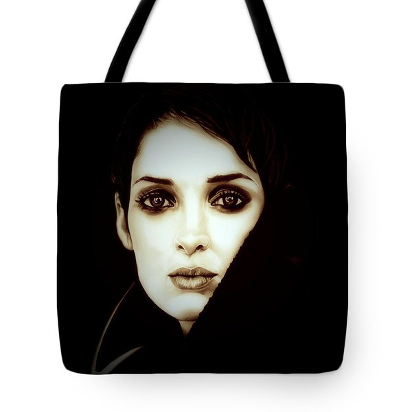 Vintage Winona Ryder Tote Bag by Fred Larucci