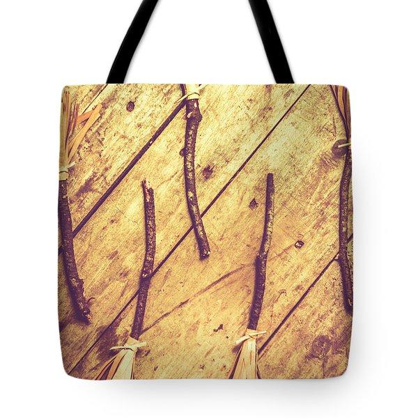 Vintage Witches Broomsticks Tote Bag