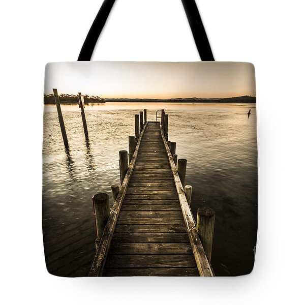 Vintage Wooden Pier Tote Bag