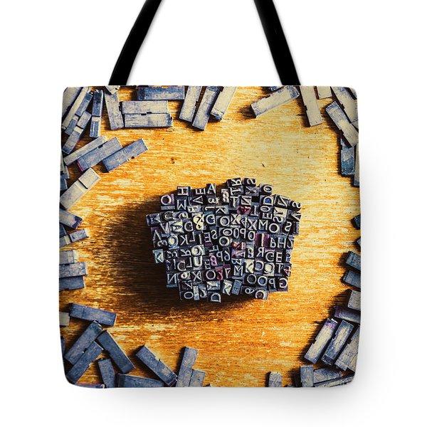 Vintage Writers Block Tote Bag