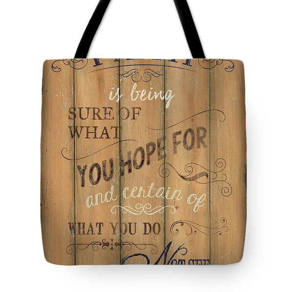 Vintage Wtlb Faith Tote Bag by Debbie DeWitt