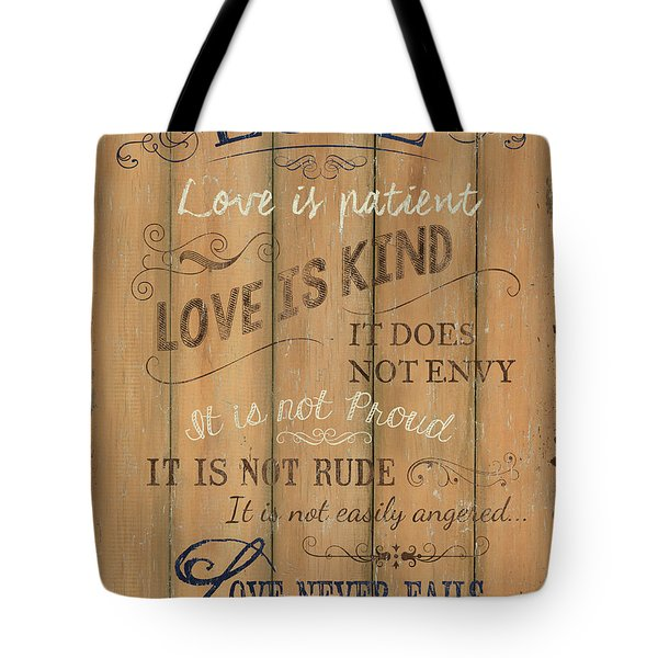 Vintage Wtlb Love Tote Bag by Debbie DeWitt