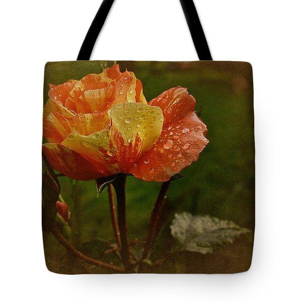 Vintage Sunset Rose Tote Bag