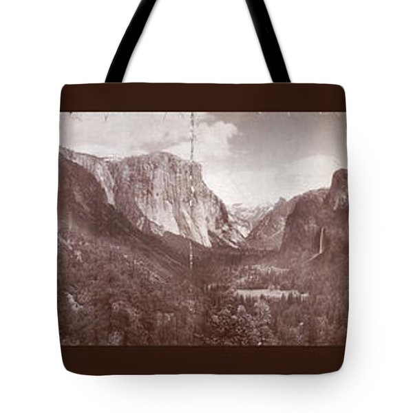 Tote Bag featuring the photograph Vintage Yosemite Valley 1899 by John Stephens