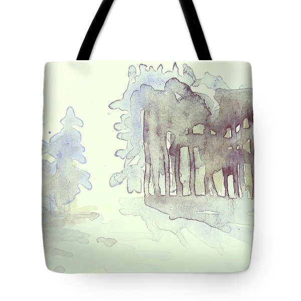 Vintrig Skogsglanta, A Wintry Glade In The Woods 2,83 Mb_0047 Up To 60 X 40 Cm Tote Bag