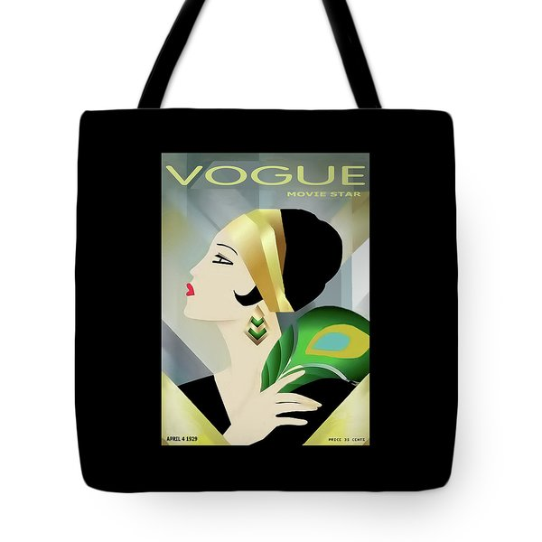 Vinttage Vogue Cover April 1929 Tote Bag