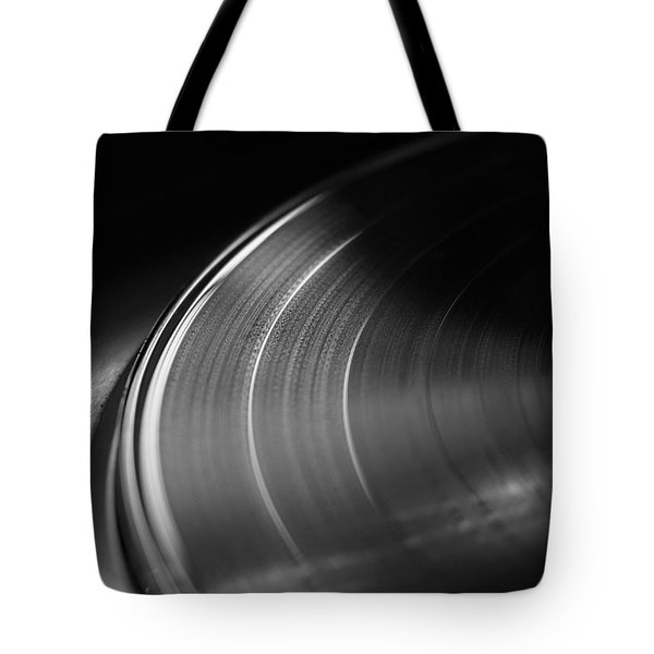 Vinyl Record And Turntable Tote Bag by Angelo DeVal