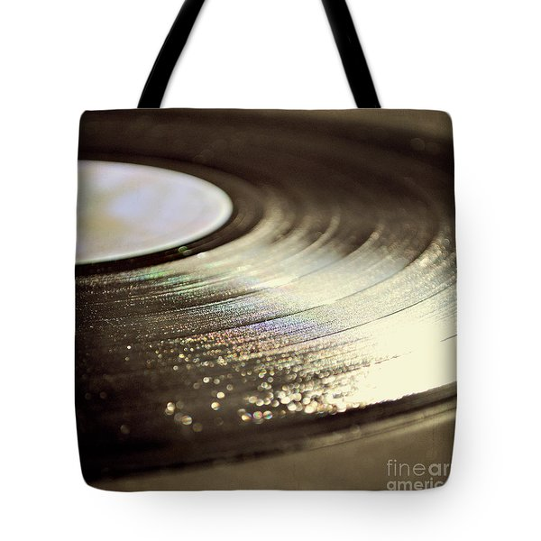 Tote Bag featuring the photograph Vinyl Record by Lyn Randle
