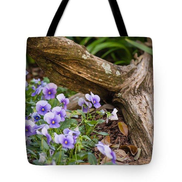 Viola Cluster Tote Bag