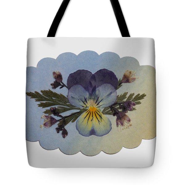 Viola Pressed Flower Arrangement Tote Bag
