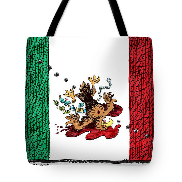 Violence In Mexico Tote Bag