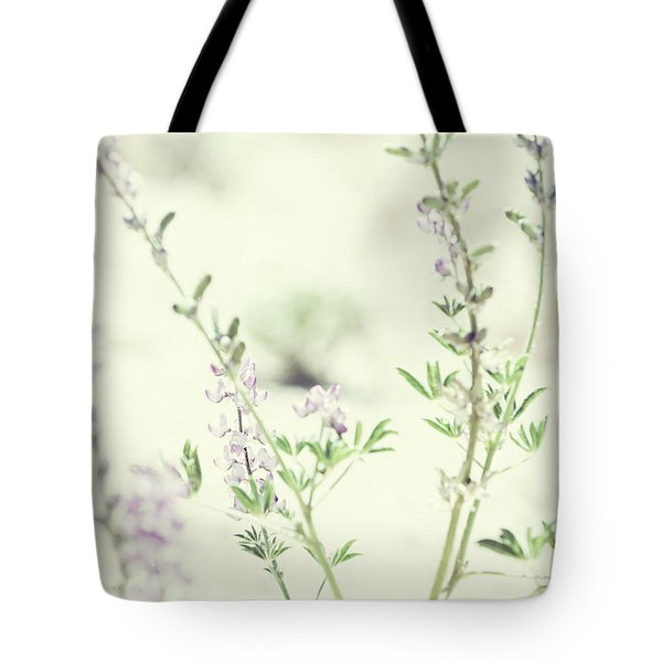 Violet And Green Bloom Tote Bag by Amyn Nasser