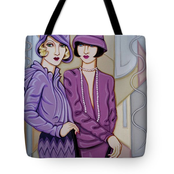 Violet And Rose Tote Bag by Tara Hutton