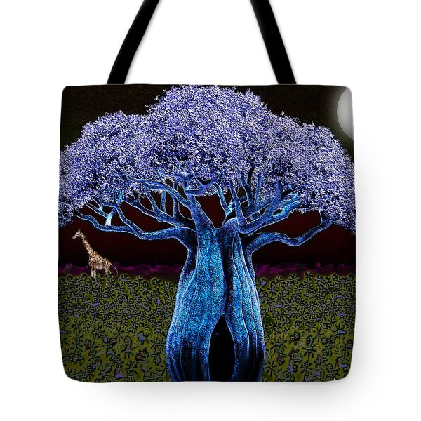 Violet Blue Baobab Tote Bag