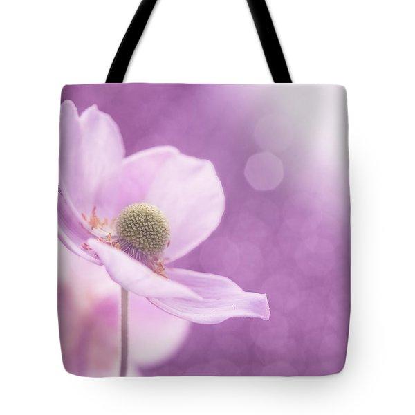 Violet Breeze Tote Bag by Lisa Knechtel