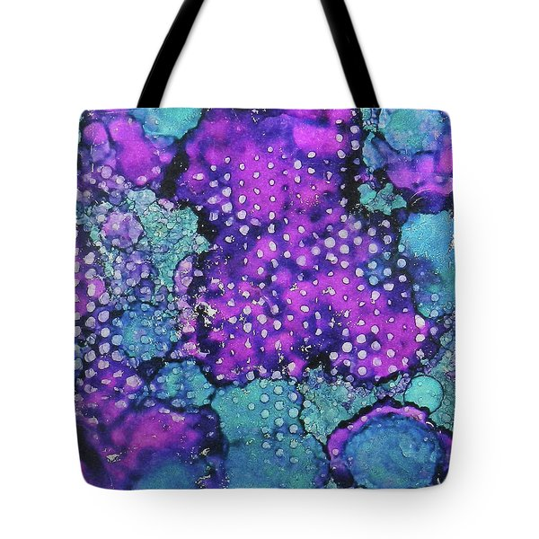 Tote Bag featuring the painting Violet Clouds Ink #24 by Sarajane Helm