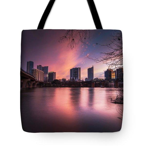 Violet Crown Tote Bag