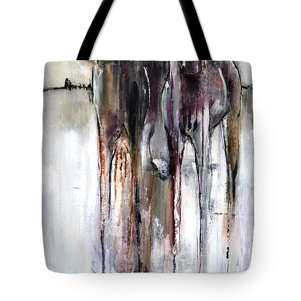 Tote Bag featuring the painting Violet Mirage by Cher Devereaux