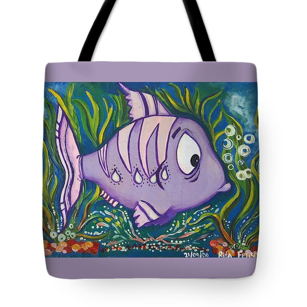 Violet Fish Tote Bag by Rita Fetisov