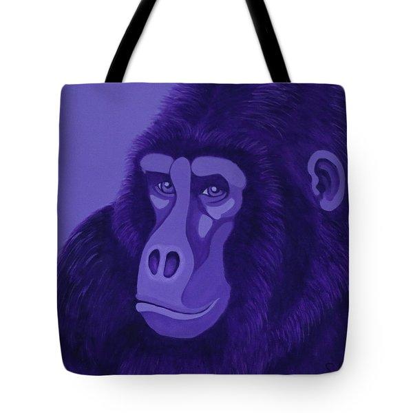 Violet Gorilla Tote Bag