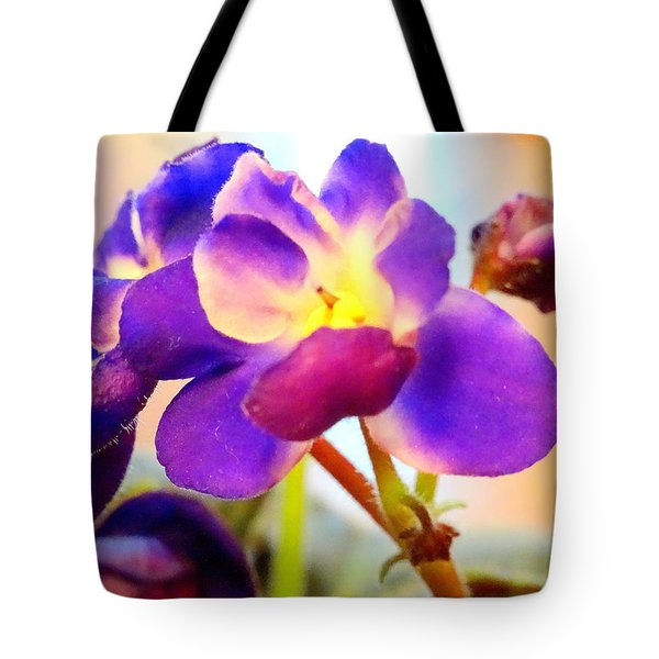 Violet In Bloom Tote Bag