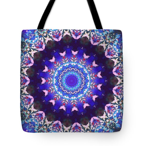 Violet Lace Tote Bag by Shawna Rowe