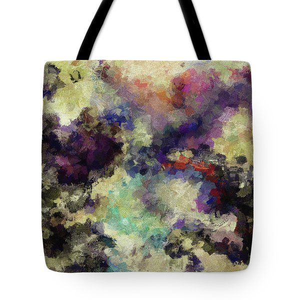 Tote Bag featuring the painting Violet Landscape Painting by Ayse Deniz