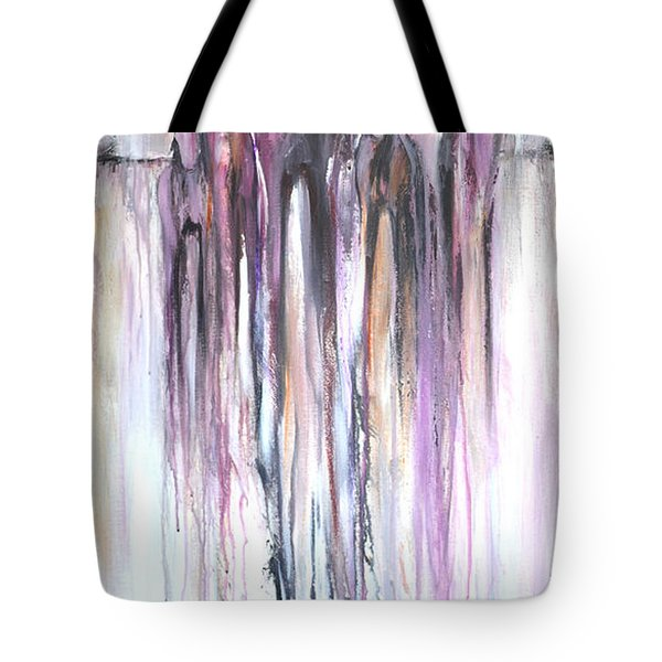 Tote Bag featuring the painting Violet Mirage 2 by Cher Devereaux