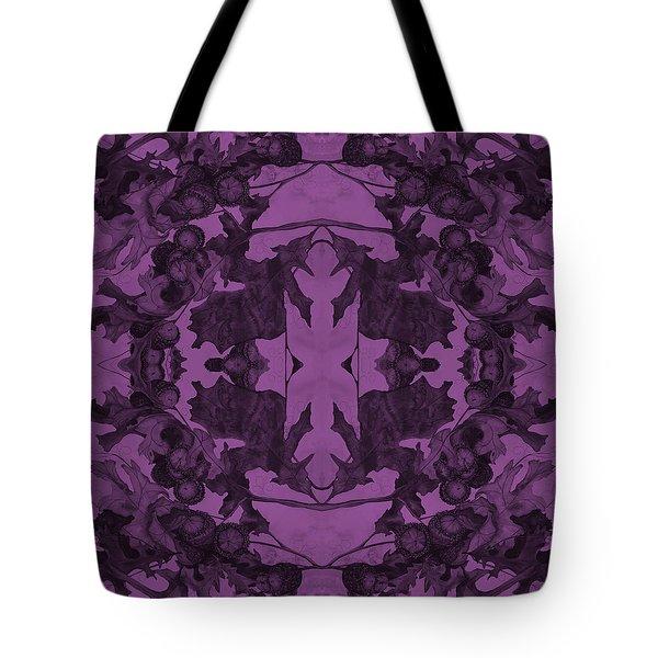 Violet Oak Tree Pattern Tote Bag
