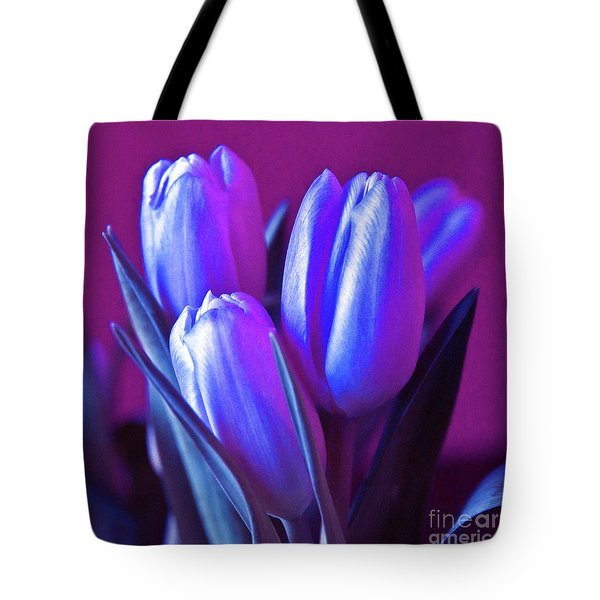 Tote Bag featuring the photograph Violet Poetry Of Spring by Silva Wischeropp
