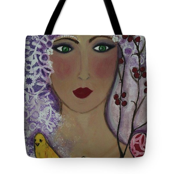 Violet Queen Tote Bag