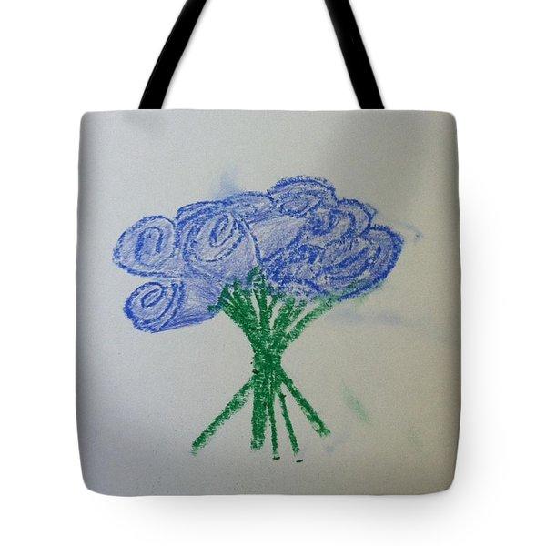 Violet Roses  Tote Bag by Alohi Fujimoto