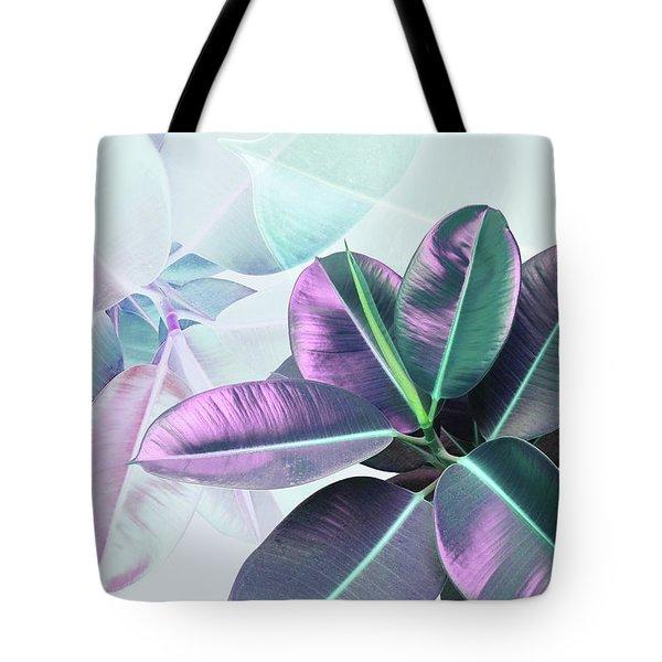 Violet Rubber Plant Tote Bag