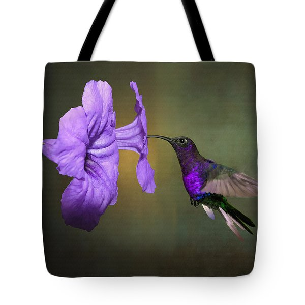 Violet Sabrewing Hummingbird Tote Bag