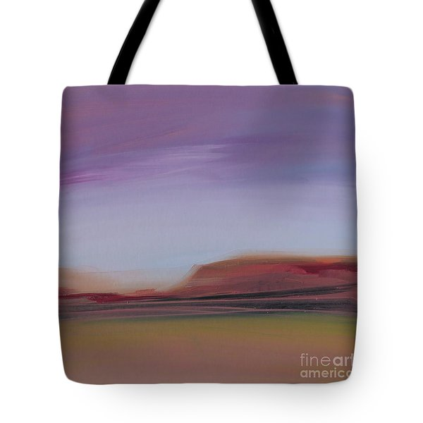 Tote Bag featuring the painting Violet Skies by Michelle Abrams