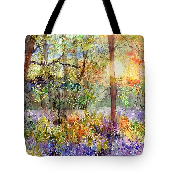 Violet Sunrise Tote Bag