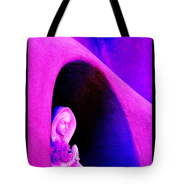 Violet Virgin Of Guadalupe Tote Bag