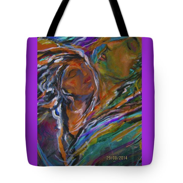 Violets And Ordchid Tote Bag
