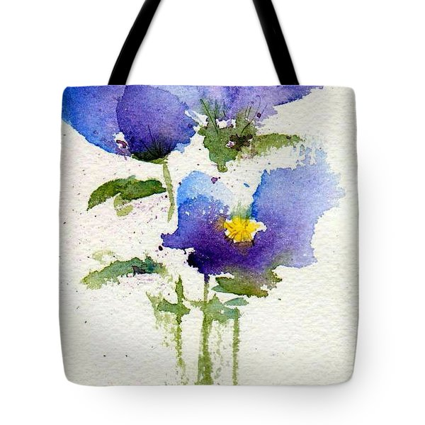 Violets Tote Bag by Anne Duke