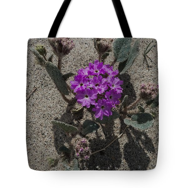 Violets In The Sand Tote Bag