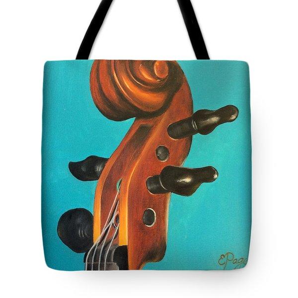 Violin Head Tote Bag