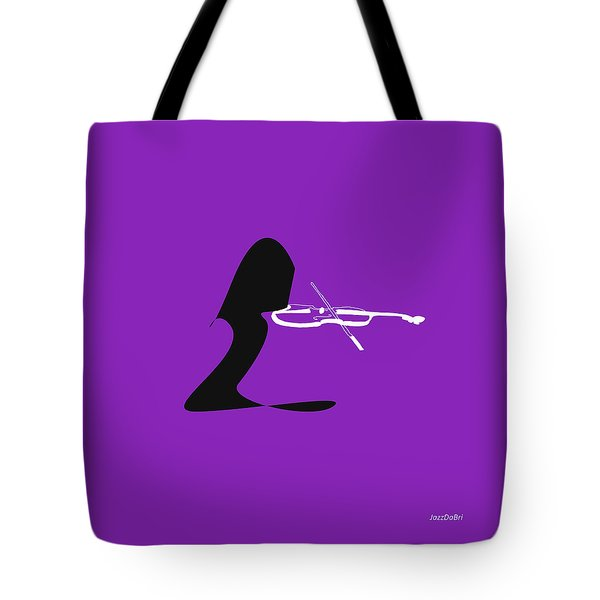 Violin In Purple Tote Bag