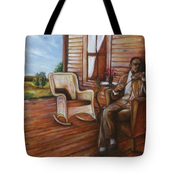 Violin Man Tote Bag by Emery Franklin