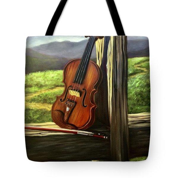 Violin Tote Bag by Randy Burns