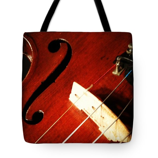 Violin Bridge Tote Bag